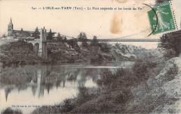 81 - L'Isle-sur-Tarn - Le Pont Suspendu Et Les Bords Du Tarn - Lisle Sur Tarn