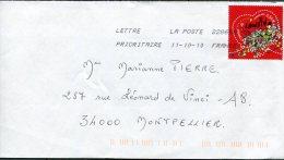 France-2010-YT 4431 (St Valentin) Sur Lettre( Oblit. 2010 - Francia