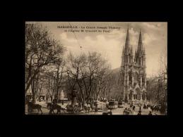 13 - MARSEILLE - Le Cours Joseph Thierry Et L'Eglise St-Vincent De Paul - Marseille