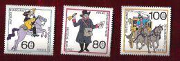 RFA - 1989 - YT N°1269 à 1271 - Bienfaisance / Histoire Des Postes - Unused Stamps