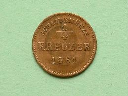 1861 - 1/4 KREUZER Schwarzburg / Rudolstadt / KM 175 ( Uncleaned Coin / For Grade, Please See Photo ) !! - [ 1] …-1871 : Etats Allemands
