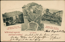 AK/CP CECIL RHODES   CAPETOWN   DE BEERS DIAMOND MINES  KIMBERLEY   Gel./circ.  1900   Erhaltung/Cond.  1-/2    Nr. 6939 - Afrique Du Sud