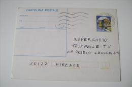 CARTOLINA POSTALE  CONCORSO TV CANALE 5  SUPERSHOW TASCABILE RITAGLIO APPLICATO FIRENZE - Spettacolo