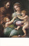 Cp , ESPAGNE , MADRID , Muséo Del Prado , La Virgen De La Rosa , Raphaël - La Vierge De La Rose - Madrid