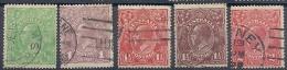 130403595  AUSTRALIA  YVERT  Nº  18/21/22/23/26 - 1913-36 George V : Heads