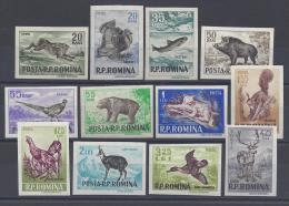 ROUMANIE - 1956 - GIBIERS - ( Chasse & Pêche ) - SERIE N° 1438 à 1449 - X - XX - TTB - - 1948-.... Républiques
