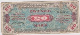 Lot 2 Billets Invasion Franc 1944 Us Allemand 39-45 D-day Deutch Americain - 1939-45