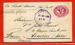GUATEMALA ENTIER POSTAL 10C DE 1899 POUR ASNIERES FRANCE - Guatemala
