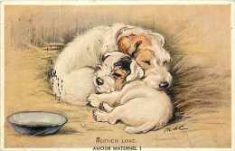 Themes Div- Chiens - Ref F569- Illustrateur -carte Postale Anglaise - Postcard  -carte Bon Etat - - Chiens