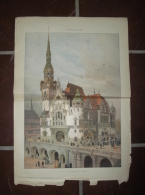 Gravure L´EXPOSITION DE PARIS 1867 - Le Palais De L´Allemagne  - 370 X 560mm - Stampe & Incisioni