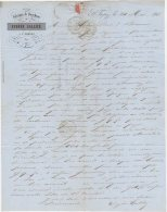83 SAINT TROPEZ ST FACTURE LETTRE 1848 Fabrique De Bouchons Eugène GALLICE  Voir Tampon Sur 2é Scan - JV9 Var - 1800 – 1899
