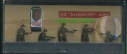 SOLDATS DE PLOMB - U.S. 1 St INFANTRY WWII - POCKET FORCE - 5 SOLDIERS - MONOGRAM MODELS INC, 1990 - - Figurines