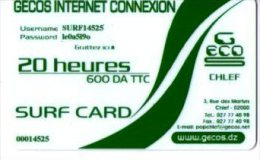 ALGERIE-CARTE ACCES INTERNET- JOUR /20 HEURES - Phonecards