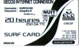 ALGERIE-CARTE ACCES INTERNET- NUIT/20 HEURES