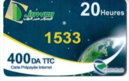 ALGERIE-CARTE ACCES INTERNET -JAWEB- 20 HEURES - Other - Africa