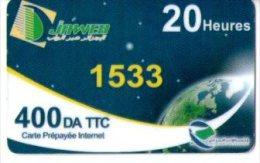 ALGERIE-CARTE ACCES INTERNET -JAWEB- 20 HEURES - Télécartes