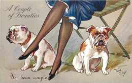 Themes Div- Chiens-ref F457- Illustrateur- Tom Gay   - Carte Bon Etat  - - Cani