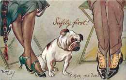 Themes Div- Chiens-ref F456- Illustrateur- Tom Gay   - Carte Bon Etat  - - Cani
