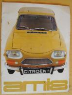 Catalogue Publicitaire Citroën Sur L´AMI 8 + Fiche Technique. 16 Pages - Publicités