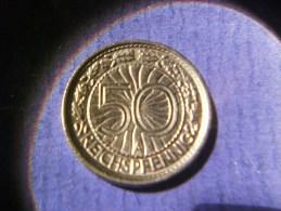 J.324 50 Reichspfennig 1937 A Vorzügliche Erhaltung !!! - [ 4] 1933-1945: Drittes Reich