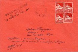 FEZZAN LETTRE AVEC GRIFFE MISSION SCIENTIFIQUE FRANCAISE DU FEZZAN 18 FEVRIER 23 AVRIL 1944 - Fezzan (1943-1951)