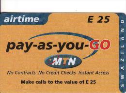 Swaziland, MTN, E25, Airtime - Swaziland