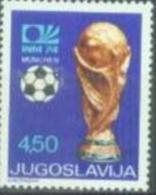 YU 1974-1567 FIFA CUP IN GERMANY, YUGOSLAVIA, 1v, MNH - Coppa Del Mondo