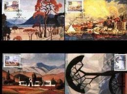 REPUBLIC OF SOUTH AFRICA , 1989, Paintings Pierneef,  Mint Maxicards, Nr(s.) 95-98 - South Africa (1961-...)