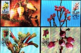 REPUBLIC OF SOUTH AFRICA , 1994, Erica Flowers,  Mint Maxicards, Nr(s.) 124-128 - South Africa (1961-...)