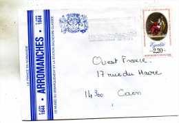 Enveloppe Obliteration Mecanique ( Flammes) Du Musée Du Debarquement Arromanches 50 Le  6-Juin 1944 - Marcophilie (Lettres)