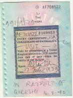 Pakistan Passport Visas Page On United Kingdom Port Entry Visa Label 1979 G.B - Vieux Papiers