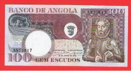 ANGOLA - 100 Escudos 1973 SC  P-106 - Angola