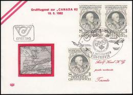 Austria 1982, Airmail Cover Wien To Toronto - Posta Aerea
