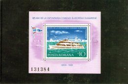 1981 COMMISSION EUROPEENNE DU DANUBE  Mi Bl  176 Et Yv Bl 147 MNH - 1948-.... Republiken