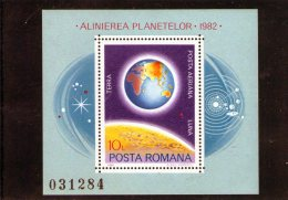 1981 - Alignament Rare Des Planetes Mi 181 Et Yv Bl 151 MNH - 1948-.... Republiken