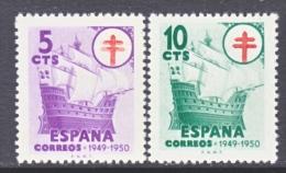 Spain RA 28-9  *  T.B. Issue  SAILING  SHIP - Bienfaisance