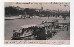 CPA 75 : PARIS  Pont  Des Arts  Avec Péniches Et Pub   A  VOIR  !!!!!!! - France