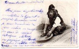 Algerie Femme De Bou Saada Preparant Le Couscous Carte Precurseur Tampon Oran - Women