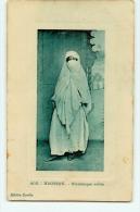 Algérie : Mauresque Voilée. Carte Glacée, Illustration En Cuvette. 2 Scans. Edition Euréka - Women