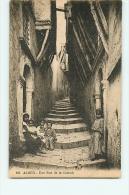 Alger : Une Rue De La Casbah. 2 Scans. Edition CAP - Algiers