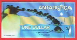 ANTARTIDA - ANTARCTICA - 1 Dolar 2007 SC  -  Penguins - Pinguinos - Andere