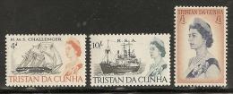 TRISTAN DA CUNHA 1967 - Yvert #113/15 - MLH * - Tristan Da Cunha