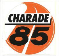 Autocollant Circuit Charade 1985 - Autocollants