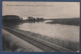 77 SEINE & MARNE - CP ENVIRONS DE MONTEREAU - TAVERS - LA SEINE ET LA PLAINE DES LOGES - MILLIET LIB. EDITEUR MONTEREAU - Montereau