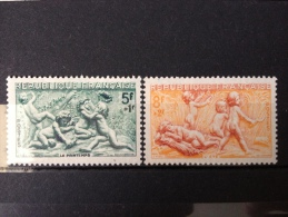 FRANCE YT 859/860. Saisons. Neuf**TB 1949. Côte 5.00€ - France