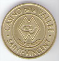 CASINO TOKEN - SAINT VINCENT - AOSTA - ITALIA VALORE 3 - Casino