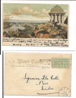 $3-2880 AUSTRALIA MELBOURNE SPAMPS CARD TO ITALY VIAGGIATA 1907. - Melbourne