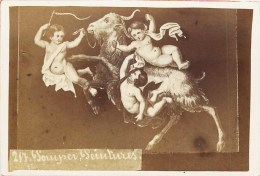 PHOTOGRAPHIE CDV 1870 : POMPEI PEINTURE ANGE ANGELOT ITALIA - Antiche (ante 1900)