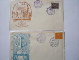 PORTUGAL -  Lot De 2 Enveloppes - De 1954 - Flammes & Oblitérations