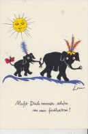 KÜNSTLER - ARTIST - LOU - Elephanten / Elefants / Olifant - Autres Illustrateurs
